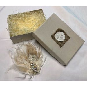 Beautiful Feather Clip In Hairpiece Boho Bridal